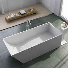 SW-147 Shelved Freestanding Bathtub Shown Installed