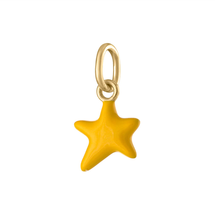 Itty Bitty Yellow Wishing Star in Gold Vermeil