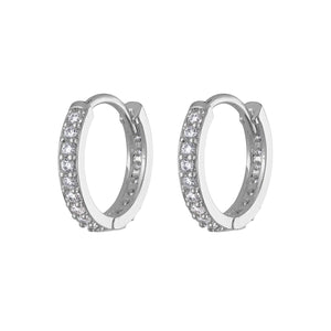 Eternity Hoop Earrings in Sterling Silver