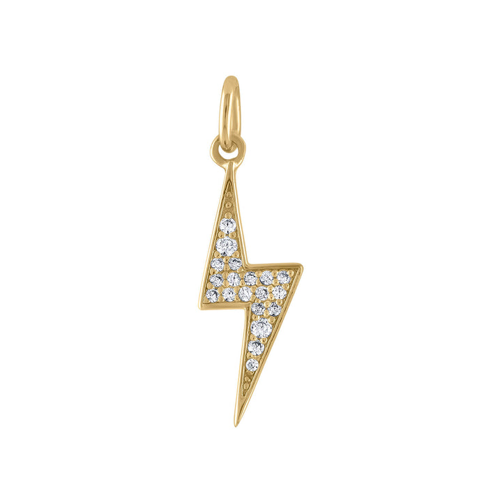 Pave Lightning Charm in Gold Vermeil