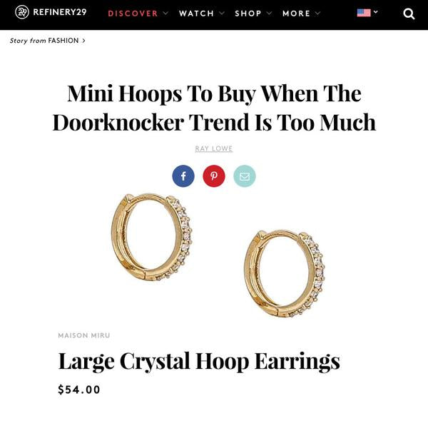 Eternity Hoop Earrings in Sterling Silver as seen on Refinery29