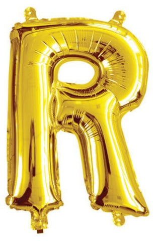 Foil Balloon Alphabet Gold R