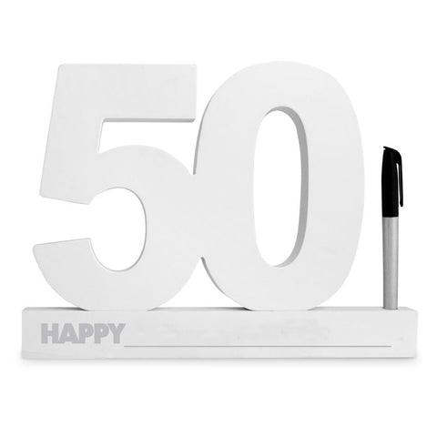 50TH BIRTHDAY SIGNATURE BLOCK