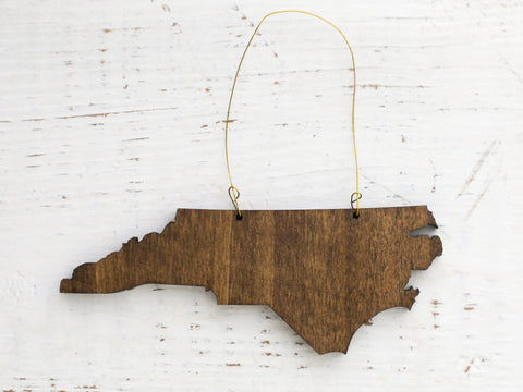 North Carolina Wooden Ornament