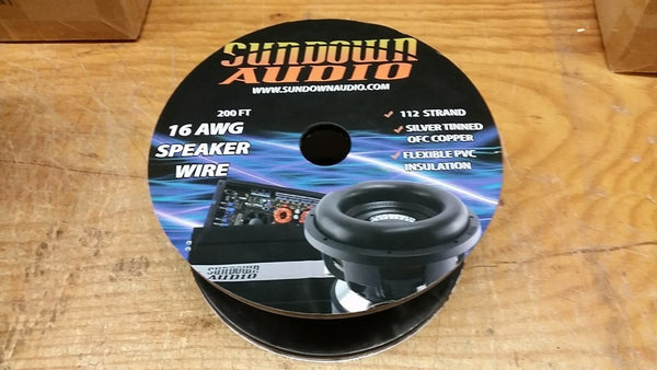 Sundown Audio 16 ga OFC speaker wire spool