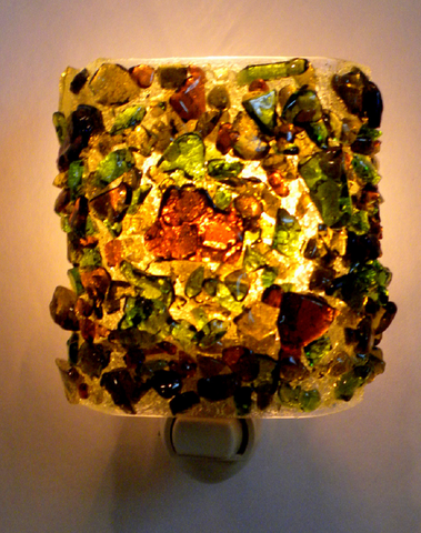 Beer and Wine Recycled Glass Night Light