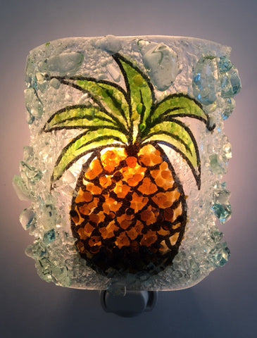 Pineapple Recycled Glass Night Light