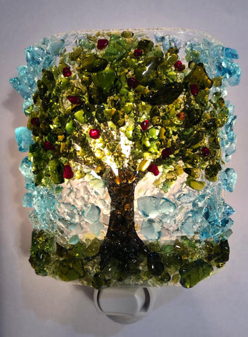 Apple Tree Recycled Glass  Nightlight