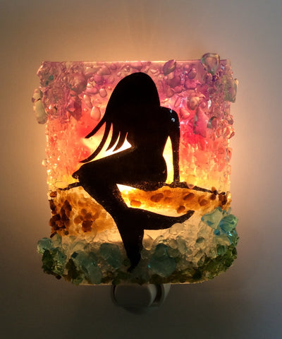 Mermaid Reborn Glass Night Light