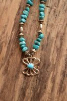 Sand Cast Turquoise Necklace