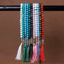 Load image into Gallery viewer, Stone Black Turquoises Tassel Pendan