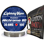 Wick & Wire Bundle - Nichrome 80 100' + Cotton Bacon PRIME