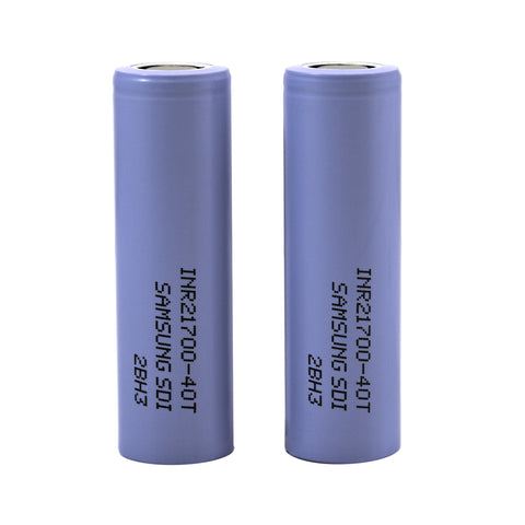 Samsung 40T INR 21700 4000mAh 35A Flat Top Battery