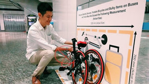 Bring your folding bike onto buses and trains