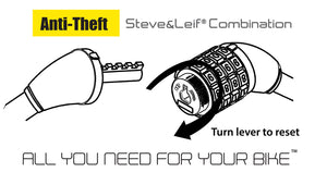 Steve & Leif Spiral Combination Lock With Bracket