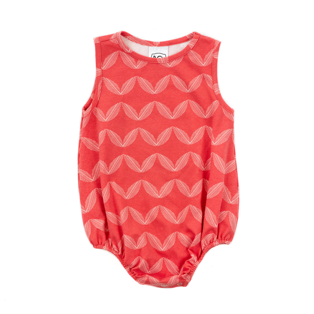 sleeveless knit baby girl bubble // poppy