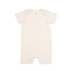 willow baby knit romper // baby pink stripe