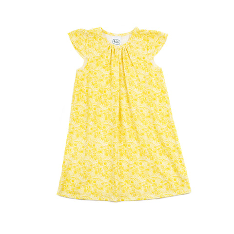 kate every day dress // yellow floral