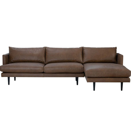 Duster 3-Seater Sectional Sofa with Left Chaise - Brown