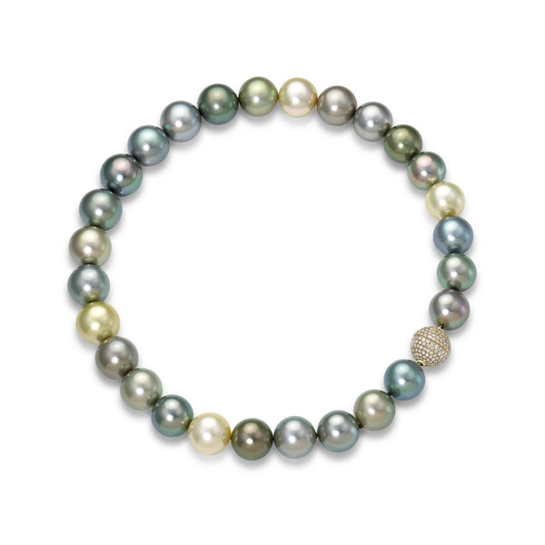 The Round Melage Tahitian Strand - Tahitian Pearl Necklace