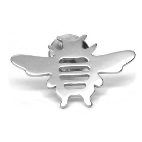 Sterling Silver Bee Tie Lapel Pin Unisex - Men, Women