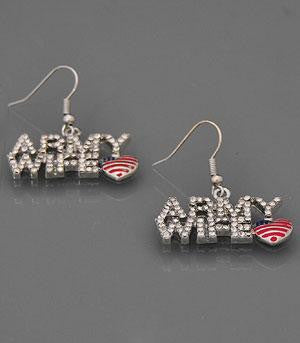 Collections Military, Army Wife Jewelry Earrings Fish Hook