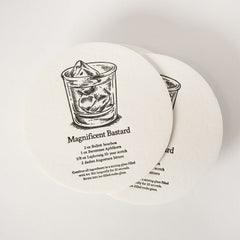 Disposable Letterpress Beverage Shields — A Baker's Dozen