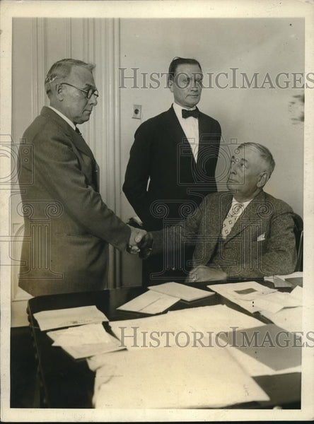 1926 Press Photo John L Whitman ousted as Warden Chauncey Jenkins - nec24602 - Historic Images