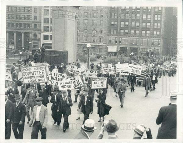 1933 Chicago May Day Parade Grant Park Press Photo - Historic Images