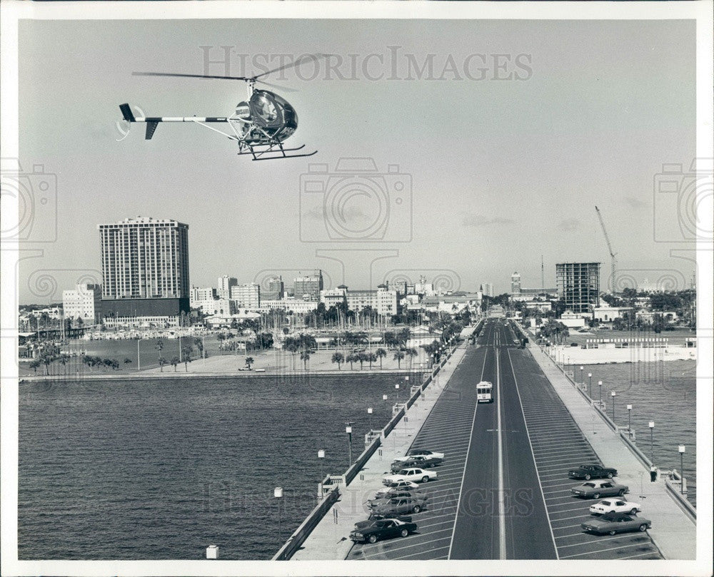 1978 St Petersburg, FL WSUN-TV Traffic Helicopter Press Photo - Historic Images