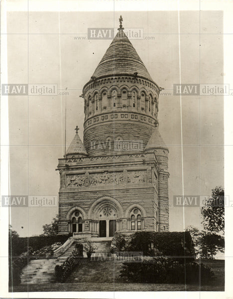 1930 Press Photo President James Garfield Tomb Ohio - Historic Images