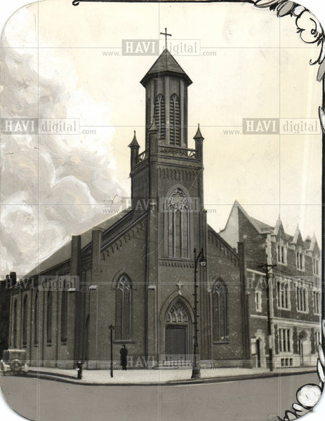 1929 Press Photo Trinity lutheran church - Historic Images