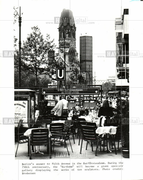 1919 Press Photo Kurfuralendamm - Historic Images