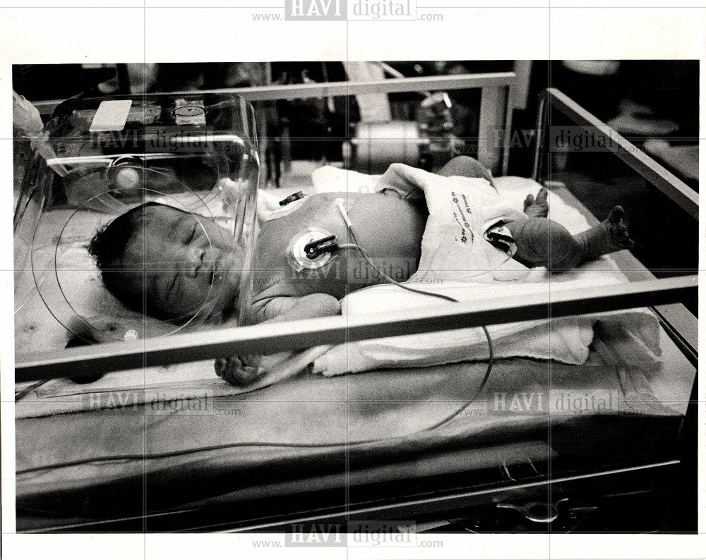 1983 Press Photo Baby Doe garbage John Hospital - Historic Images