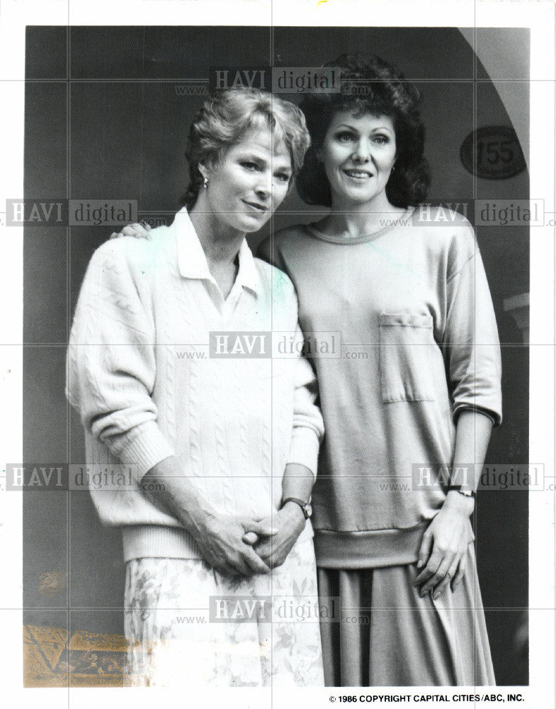 1986 Press Photo Mariette Harley Lynn Redgrave ABC TV - Historic Images