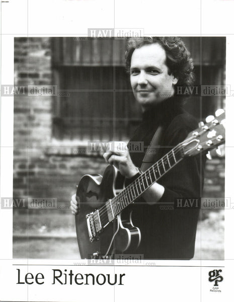 "1995 Press Photo Lee Mack ""Captain Fingers"" Ritenour - Historic Images"