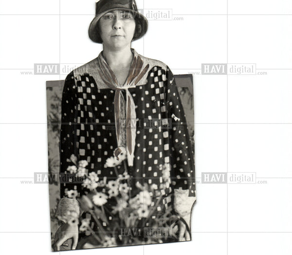 1928 Press Photo Mrs. Allan sheldon - Historic Images