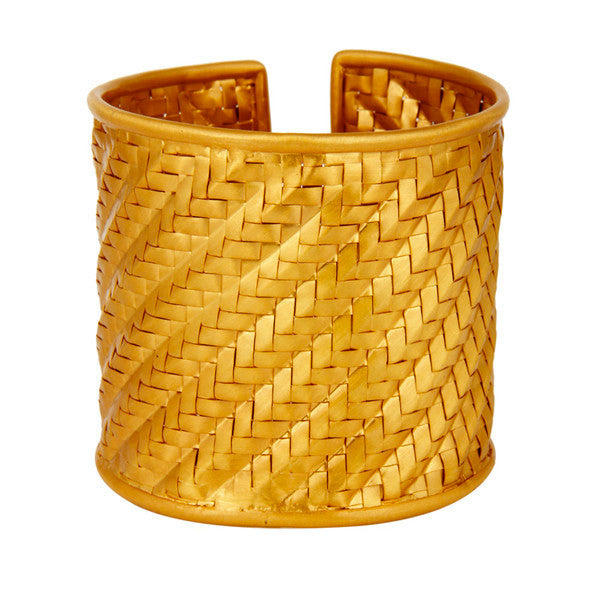 Signature Rattan Cuff in Gold