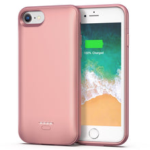 Load image into Gallery viewer, iPhone 6 6s Battery Case, 4000mAh Portable Protective Charging Case for iPhone 6 6s(4.7 inch) Extended Battery Charger Case (Rose Gold)