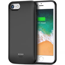 Load image into Gallery viewer, Battery Case for iPhone 6 6s, 4000mAh Portable Protective Charging Case for iPhone 6 6s(4.7 inch) Extended Battery Charger Case-(Black)