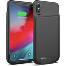 Load image into Gallery viewer, Battery Case for iPhone X/XS, 4000mAh Portable Protective Charging Case Extended Rechargeable Battery Pack Charger Case Compatible with iPhone X/XS / 10 (5.8 inch) (Black)