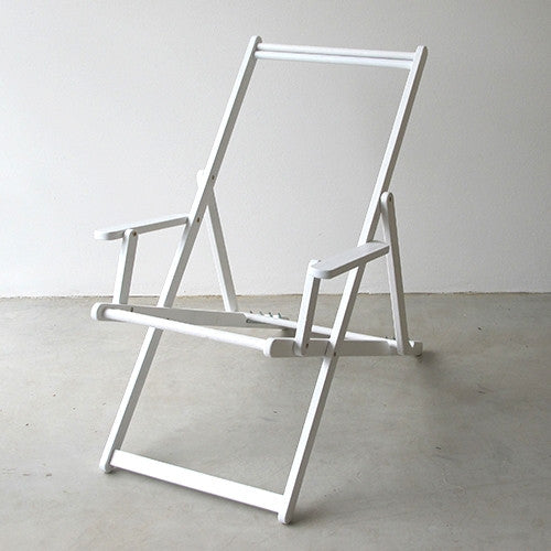 Deckchair with Arms Frame - White