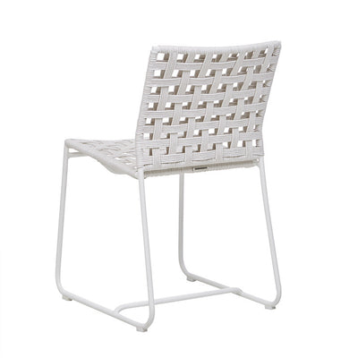 Marina Square Dining Chair in Chalk