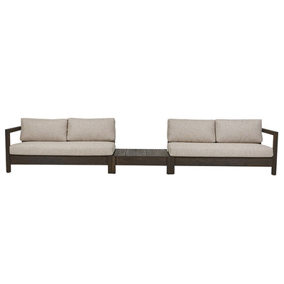 Marina Cube Left Arm Sofa in Ebony