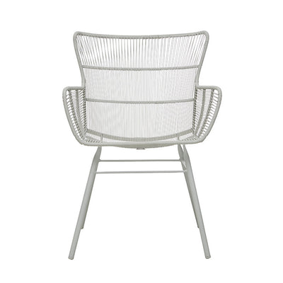 Globewest Mauritius Wing Dining Arm Chair in Light Grey