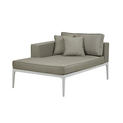 Montego Left Chaise in White/Pale Grey