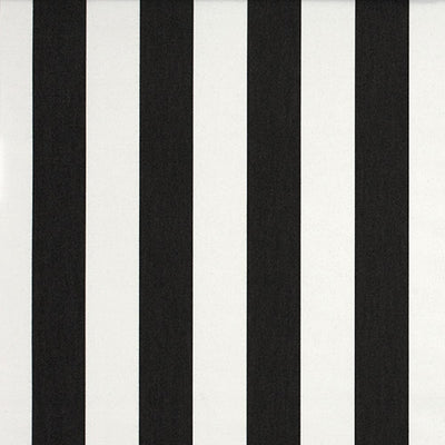 Deckchair with Arms (White) - Sunbrella Charcoal/White Block Stripe