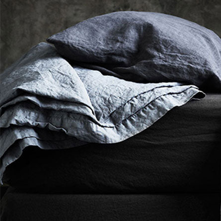 Minerale Vintage Wash Linen Fitted Sheet