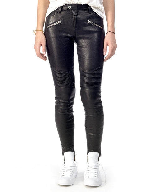 COCO - Stretch-Leather Skinny Pants - ANGRY LANE