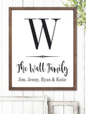 Rustic Monogram Personalized Art